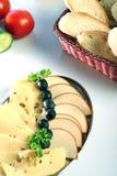 De Plaat van de kaas Stock Afbeeldingen