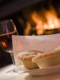 De Plaat van de kerstman van Mince de Sherry van de Pastei en een Brief stock afbeeldingen