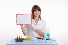 De plaat van de leraarsholding Stock Afbeelding