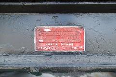 De plaat van de Oude motor Royalty-vrije Stock Afbeelding