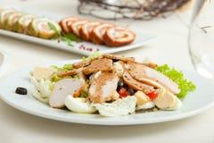 De plaat van de salade Stock Afbeelding