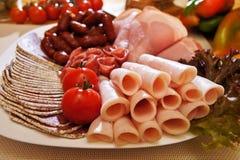 De plaat van de salami Royalty-vrije Stock Afbeelding