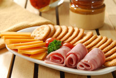 De plaat van de snack stock afbeeldingen