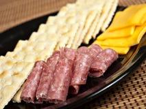 De Plaat van de snack Stock Foto's