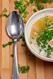 De plaat van de soep Stock Afbeeldingen