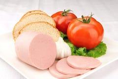 De plaat van de tomaat Stock Afbeelding