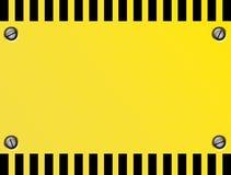 De Plaat van de voorzichtigheid Stock Afbeeldingen