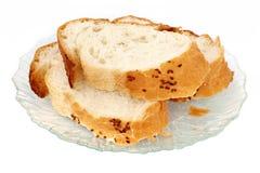 De plaat van het brood Stock Foto's