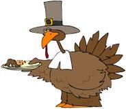 De Plaat van het Diner van Turkije vector illustratie