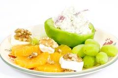 De plaat van het fruit met sinaasappelen Royalty-vrije Stock Afbeeldingen