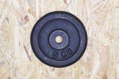 de plaat van het 5 kilogewicht Stock Foto's