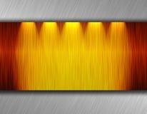 De plaat van het metaal vector illustratie