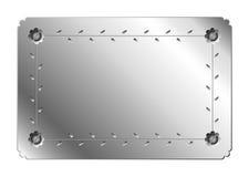 De plaat van het metaal Stock Fotografie