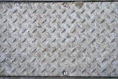 De plaat van het metaal in grond Royalty-vrije Stock Foto's