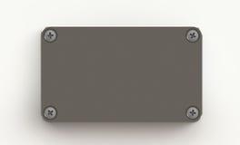 De plaat van het metaal met schroeven Stock Fotografie