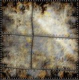De plaat van het metaal met schroeven Stock Afbeeldingen