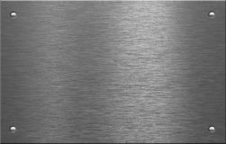De plaat van het metaal met vier klinknagels Stock Afbeeldingen