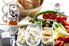 De plaat van het ontbijt Stock Foto's