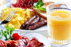 De plaat van het ontbijt Royalty-vrije Stock Afbeeldingen