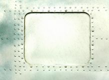 De plaat van het staal met klinknagels Royalty-vrije Stock Afbeelding