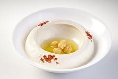 De plaat van Hummus Stock Foto's
