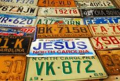 De plaat van Jesus stock foto's