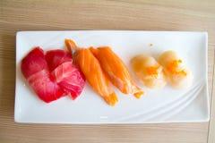 De plaat van sushi Royalty-vrije Stock Afbeeldingen