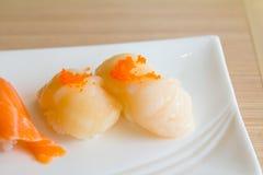 De plaat van sushi Stock Foto's
