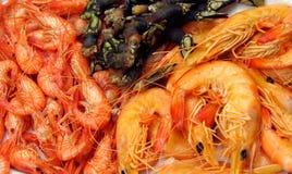 De plaat van zeevruchten Stock Afbeeldingen