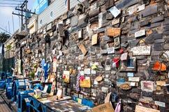 De plaats L ` Animita DE Romualdito van het straatgebed in Santiago, Chili Royalty-vrije Stock Foto's