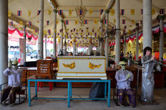 De plaats schenkt doodskisten voor dood en geen verwanten in Mongkhon C Royalty-vrije Stock Fotografie