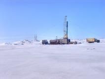 De plaats van de boor in het Noordpoolgebied. Royalty-vrije Stock Fotografie