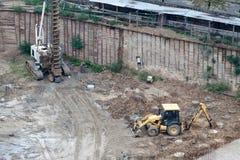 De plaats van de bouw. stock fotografie