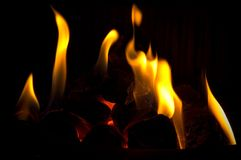 De plaats van de brand Royalty-vrije Stock Afbeeldingen