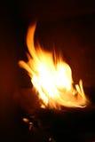 De Plaats van de brand Stock Foto
