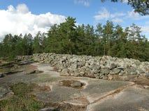 De plaats van de bronstijdbegrafenis in Finland Royalty-vrije Stock Fotografie