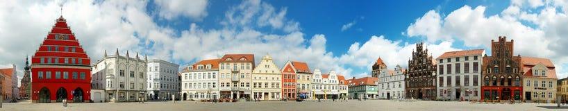 De plaats van de Greifswaldmarkt Stock Afbeelding
