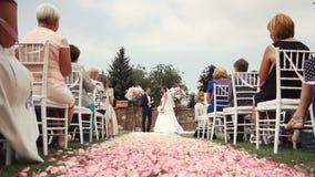 De Plaats van de huwelijksceremonie stock footage