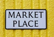 De Plaats van de markt stock afbeeldingen