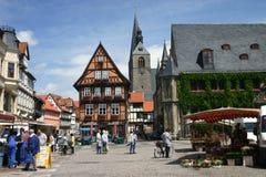 De plaats van de markt Quedlinburg Royalty-vrije Stock Fotografie