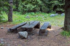 De plaats van de picknick in berg Royalty-vrije Stock Fotografie