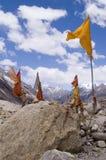 De plaats van de verering door bron van Ganga rivier, India stock fotografie