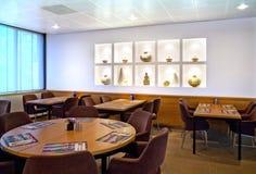 De plaats van de vergadering in restaurant stock foto's