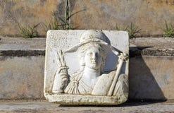 De plaats van Dion van Anciebt in Griekenland stock fotografie