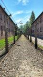 De plaats van het Auschwitzmuseum in Oswiecim, Polen royalty-vrije stock afbeelding