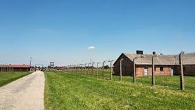 De plaats van het Auschwitzmuseum in Oswiecim, Polen royalty-vrije stock foto's