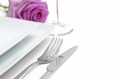 De plaats van het diner het plaatsen royalty-vrije stock foto's