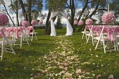 De plaats van het huwelijk Stock Fotografie