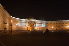De plaats van het paleis in Petersburg Rusland Royalty-vrije Stock Afbeeldingen