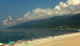 De plaats van het paradijs. Abchazië (Georgië) Royalty-vrije Stock Foto